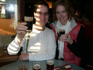 Jody & I enjoying a good beer in Montana