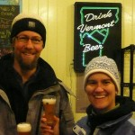 Sean Lawson & I in his tidy and tasty Vermont Brewery