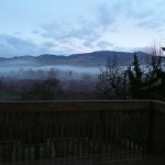 Looking out our deck in Ashland