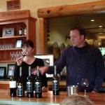 Kara & Greg, Winemakers, teaching the interested more about wine & tasting