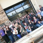 A great group of enthusiastic Media on the GABF Bus Tour last year, sponsored by Visit Denver