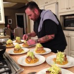 Colleague & friend, Chef Braden plating the braised pork belly