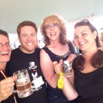 Fun & Flavor Lovers at TFOB, Snowman Brewing booth