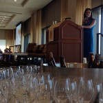 GABF Media Luncheon - Julia Herz sharing information.